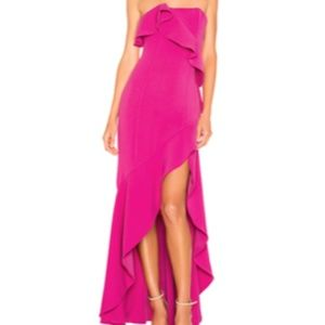 Strapless Pink Orchid Dress